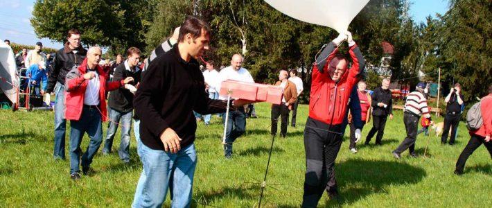 P56 Ballon erfolgreich auf UKW-Tagung gestartet