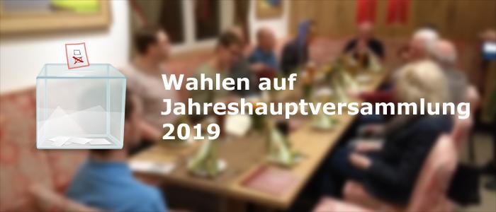 Jahreshauptversammlung 2019 mit Wahlen